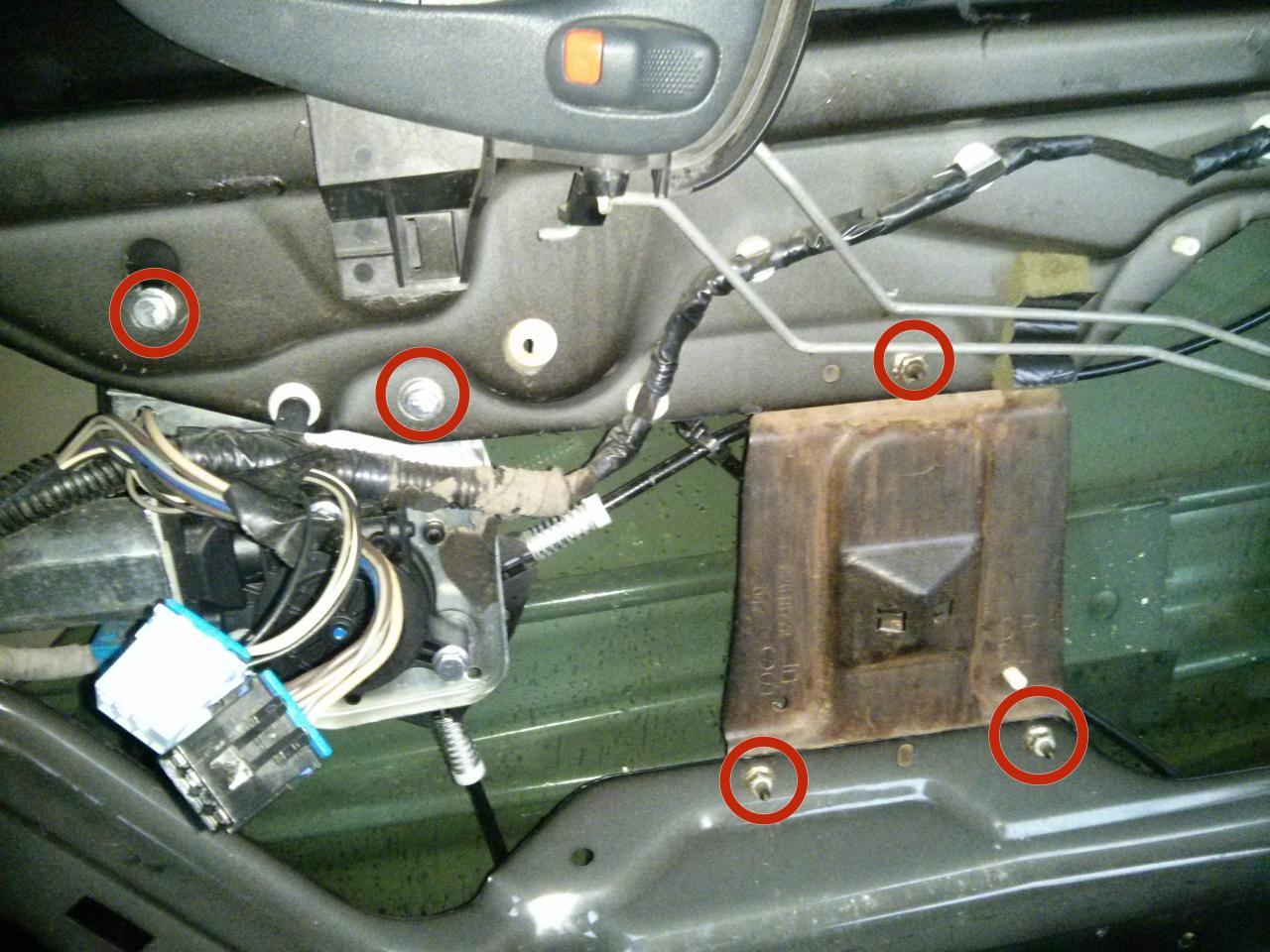 1999 2005 Pontiac Grand Am Passenger Side Window Regulator Power 2004 Grandam Motor And Assembly Rear