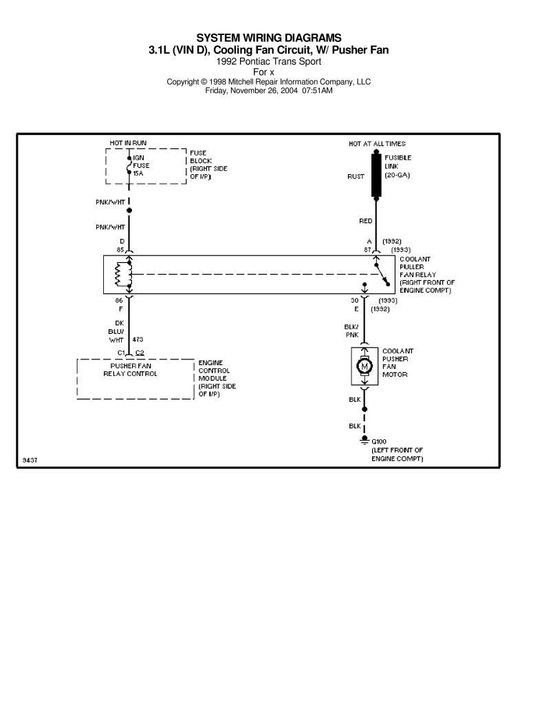 Pontiac Trans Sport 1992 Wiring Diagrams Pdf  829 Kb
